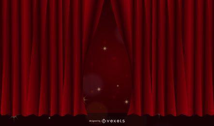5 cortinas prácticas vectoriales