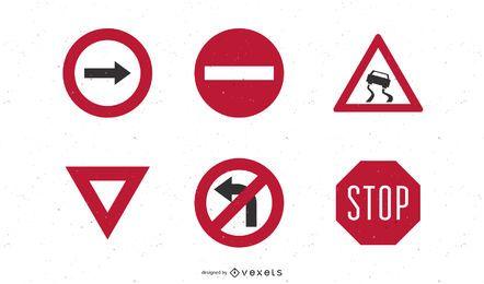 Vetor de sinais de tráfego rodoviário