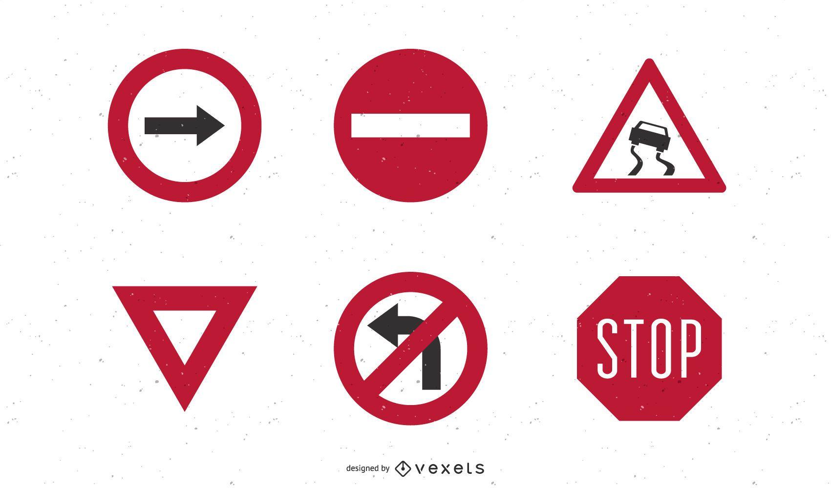 Vector de señales de tráfico por carretera