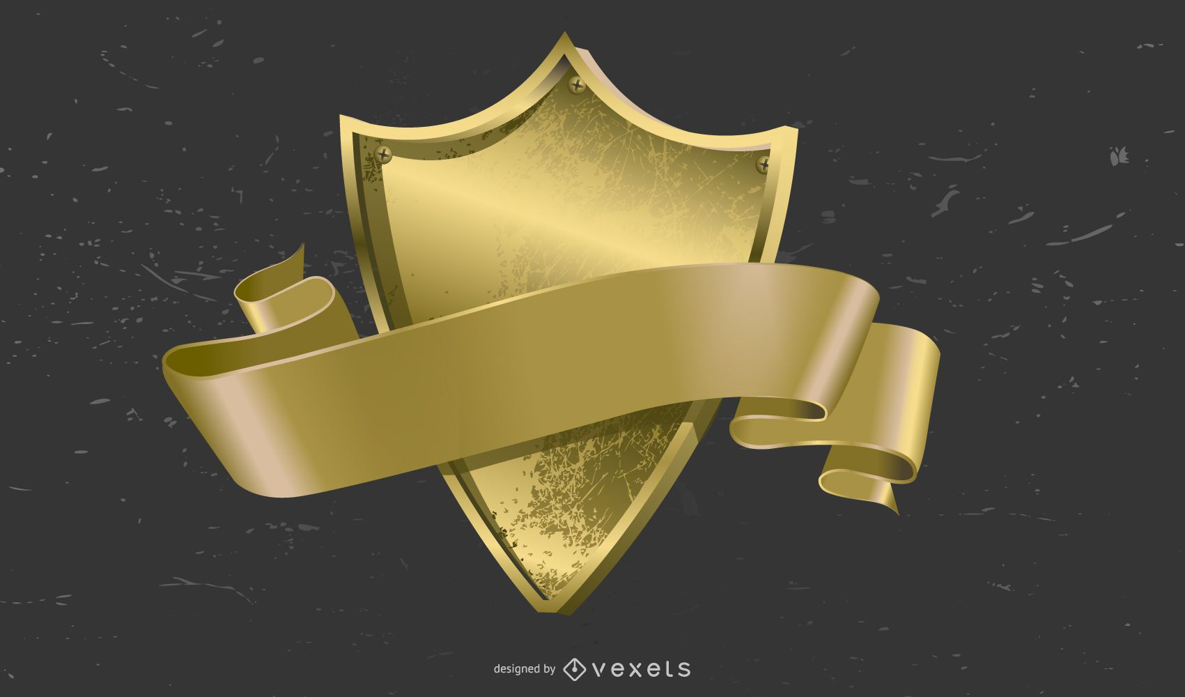 Gorgeous Gold Medal Badge Vector