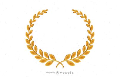 Goldener Olivenzweig-Vektor