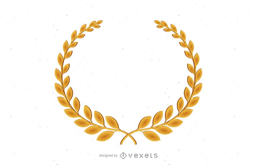Vector de rama de olivo de oro