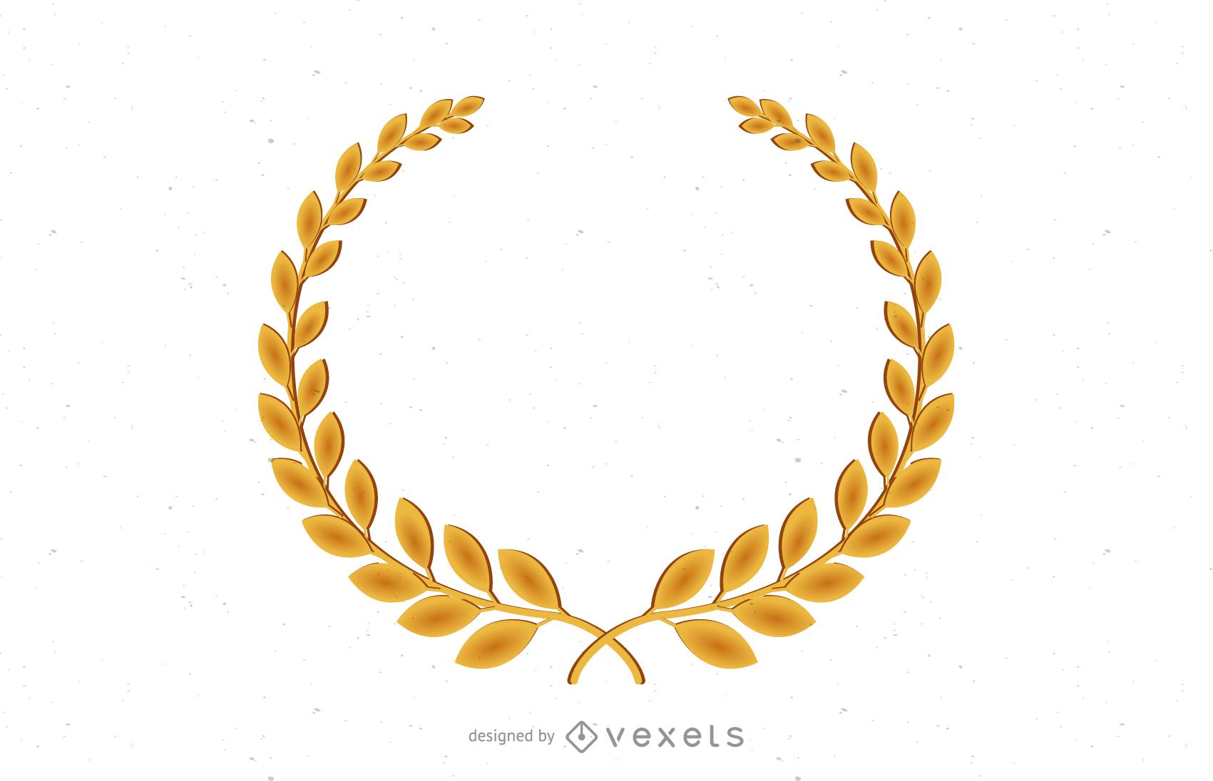 Golden Olive Branch Vector