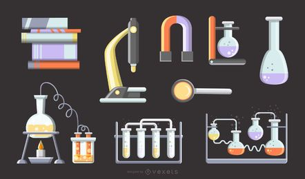 Vector de herramienta fisica y quimica matematica