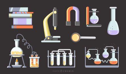 Vector de herramienta matemática física y química