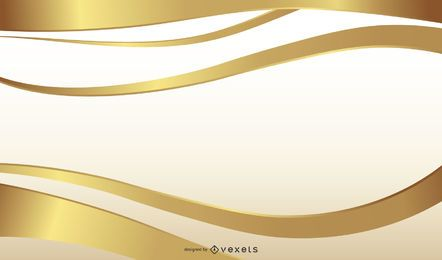 Diseño de fondo de cinta dorada