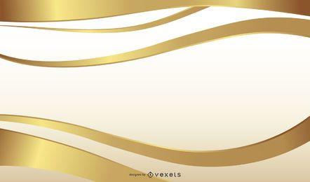 Golden Ribbon Background Design