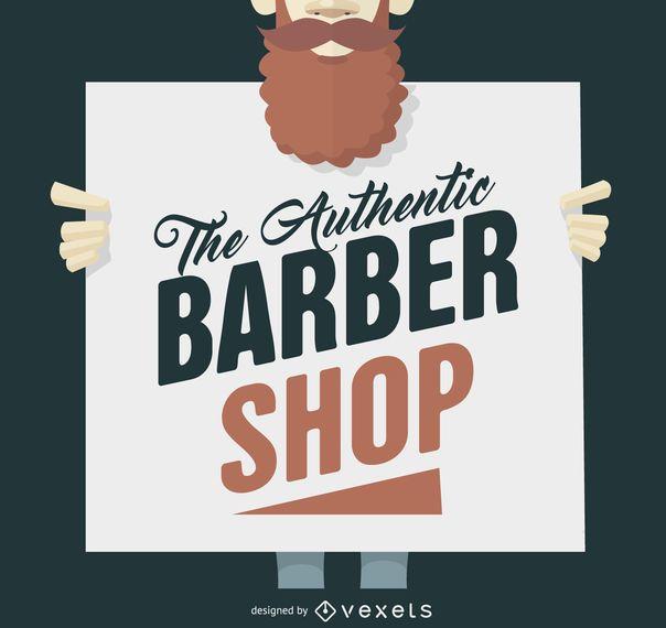 Hipster barber shop sign