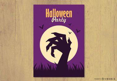 Ilustração em vetor convite para festa de Halloween