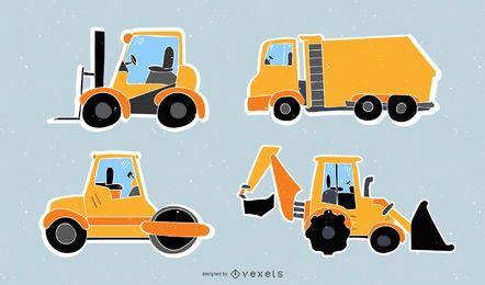 Baufahrzeug-Vektorsammlung