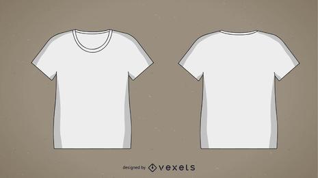 2 modelos de t-shirt em branco