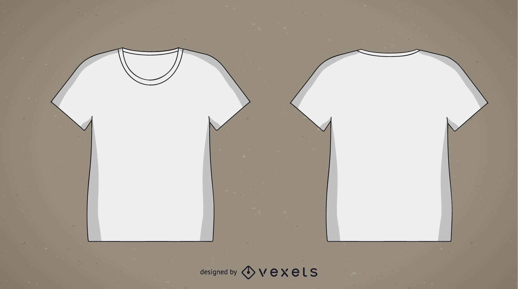 2 blank t shirt templates vector download