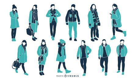 Colección de artículos de invierno de marca