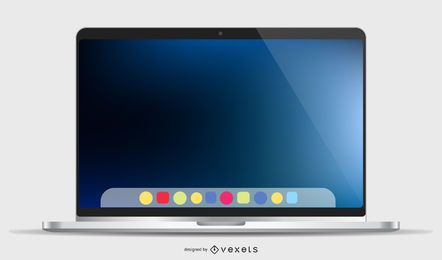 Maquete do Macbook Pro