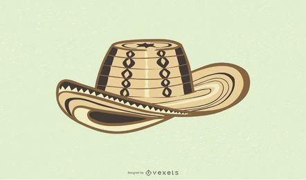Vector de sombrero de Vueltiao