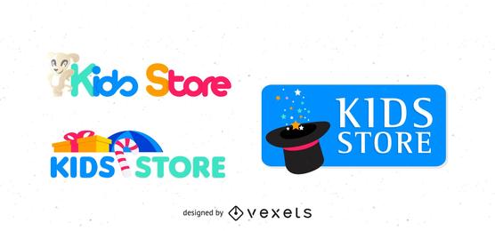 Paquete de logotipo de tienda de niños