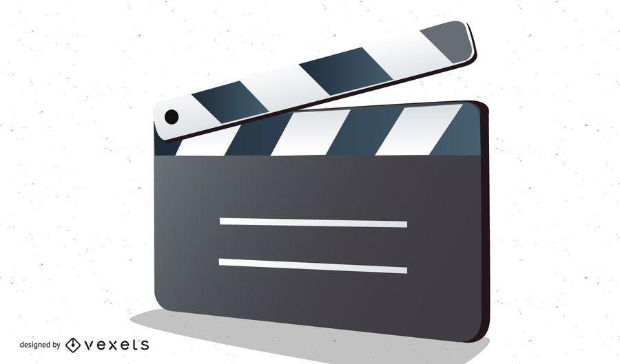 Clapper Board Vector For Movie Or Film