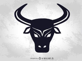 Vector de cabeza de toro