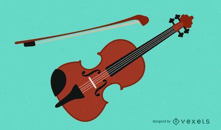 Vetor de violino