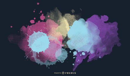 Ilustração de meio-tom