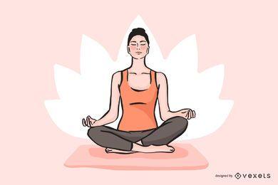 Vetor de ioga