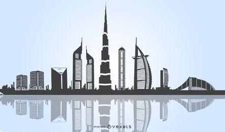 Wolkenkratzer-Stadt-Grafiken