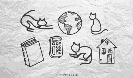 diseño de ilustración de garabatos de niños