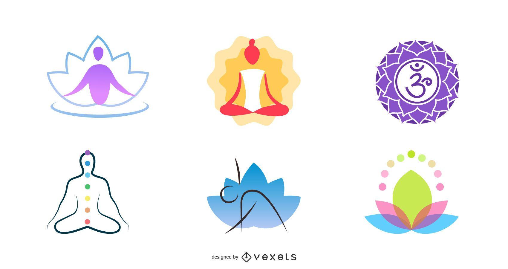 Colección de objetos de logotipo de mediación