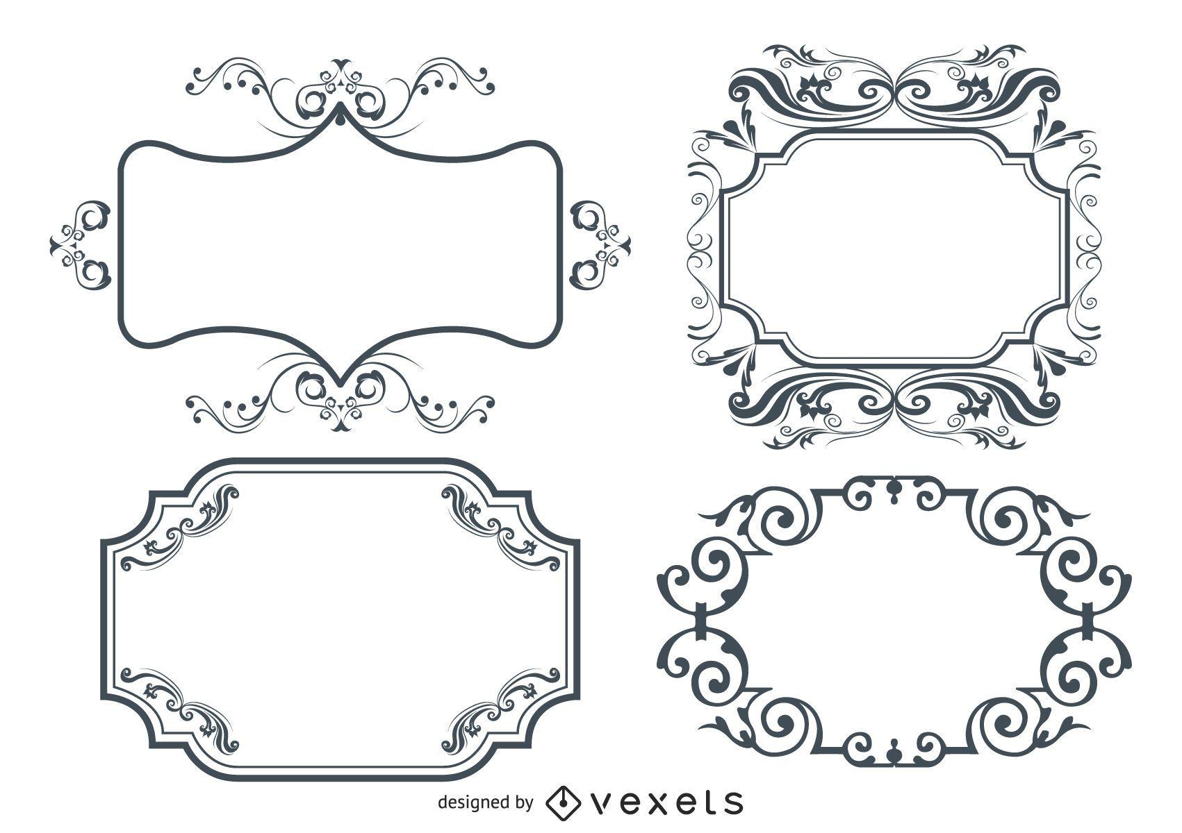Flourish Ornamental Frame Design Pack