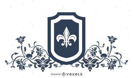 Heraldry Fleur de Lis Shield Design