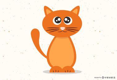 Gatinho laranja bonito