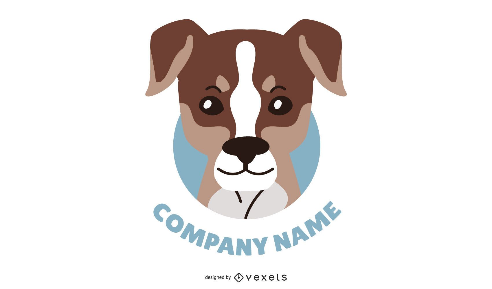 Logotipo de cabe?a de cachorro personalizado