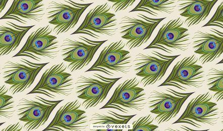 Diseño de fondo de plumas de pavo real