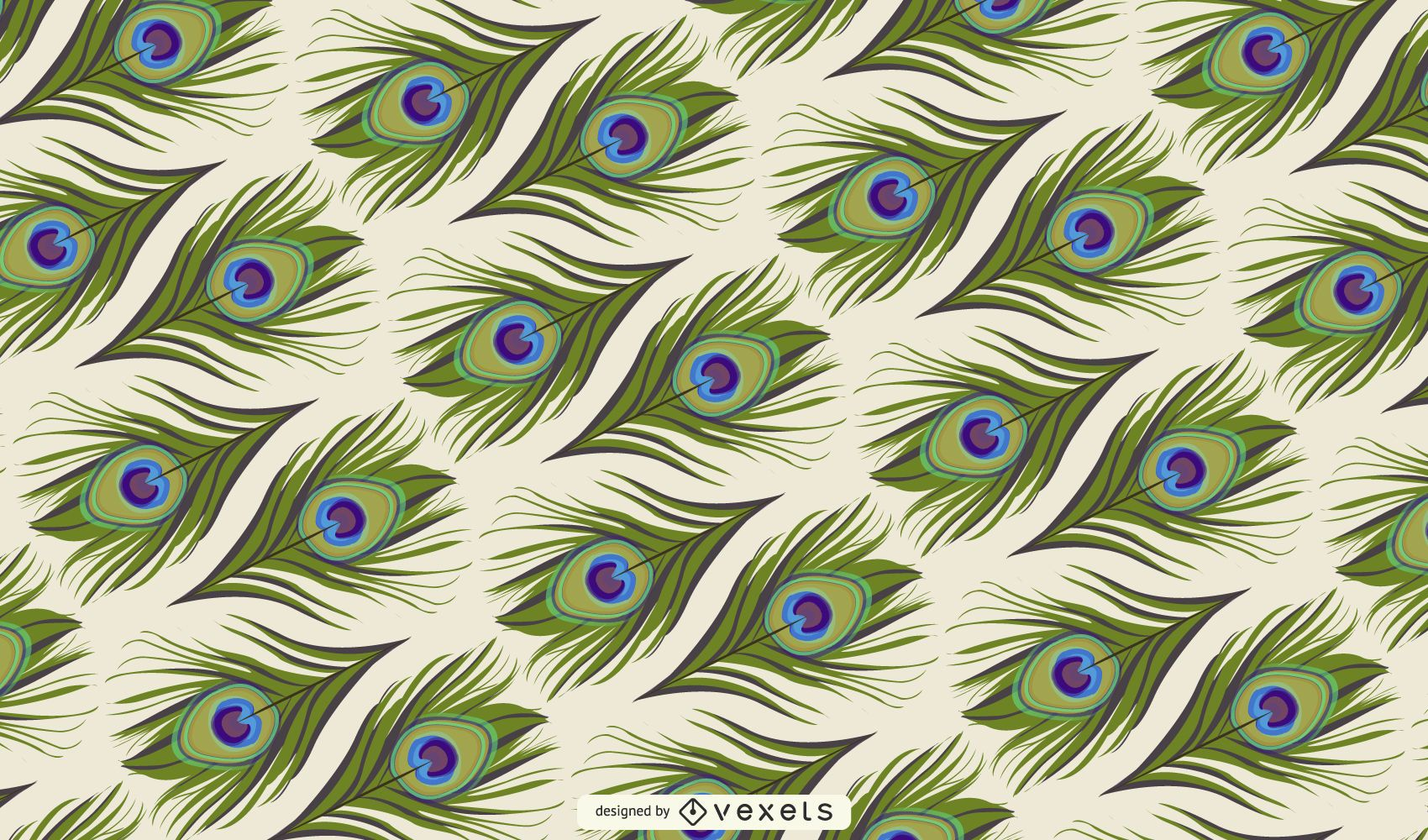 Peacock Feather Background Design
