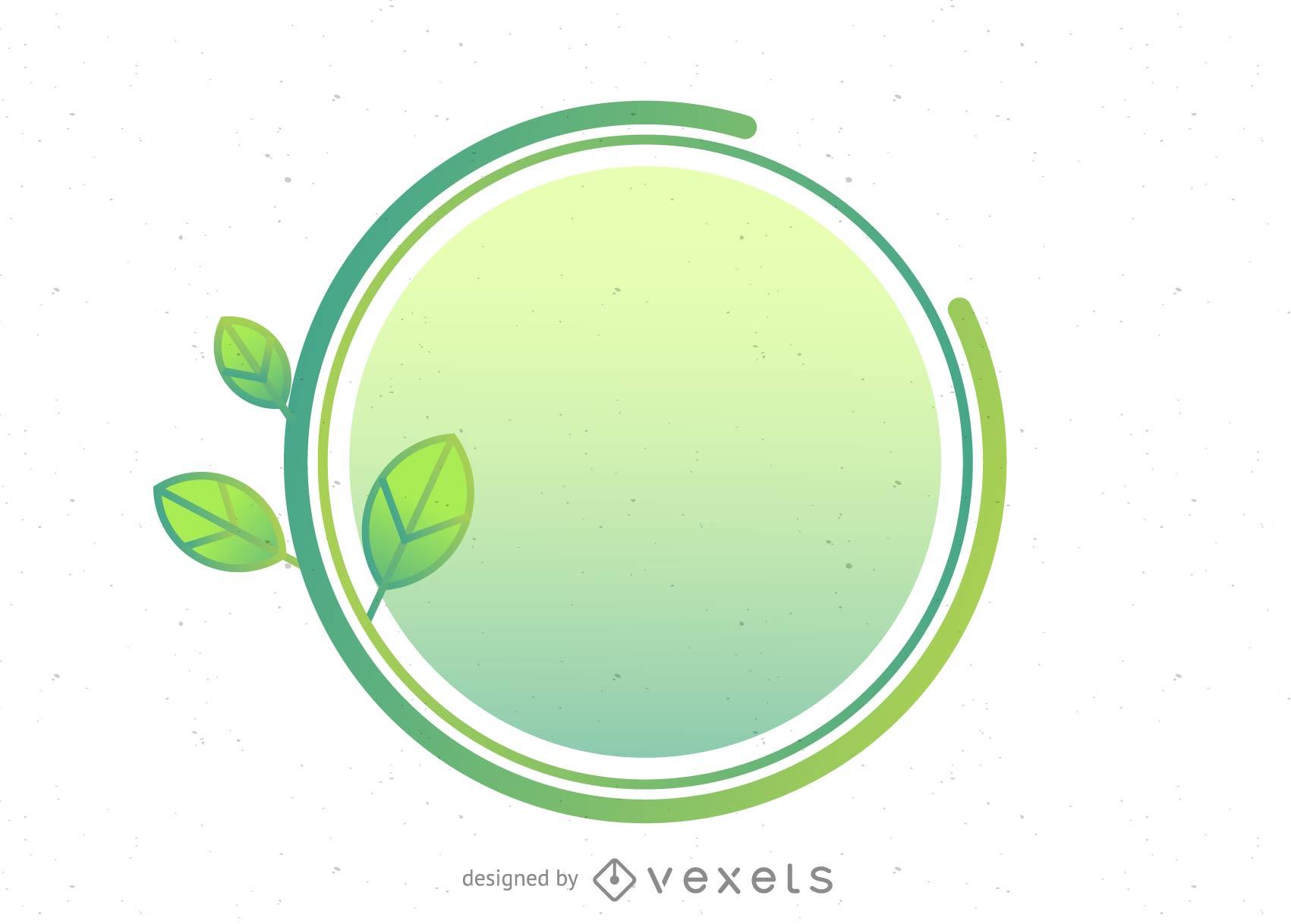 Círculo y planta verde