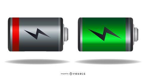 Status de carga da bateria do vetor livre