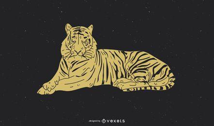 Tiger Bild 32 Vektor