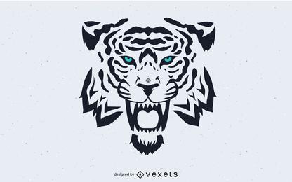 Vetor de imagem de cabeça de tigre