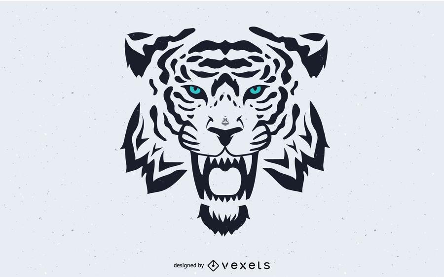 Tiger Head imagen vectorial