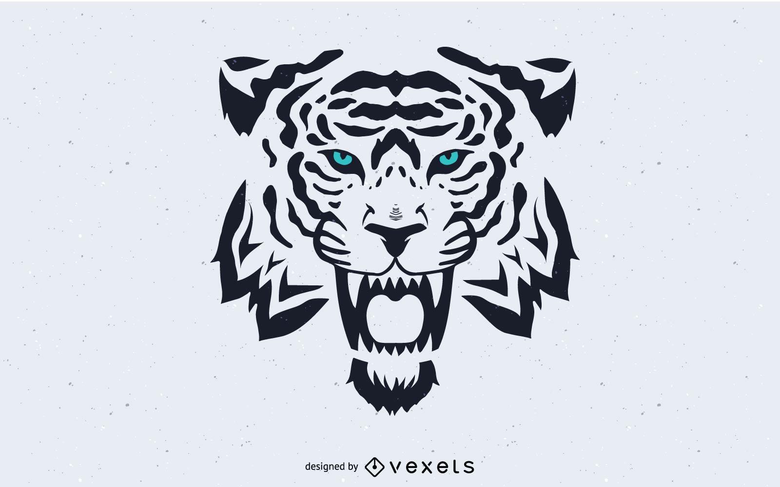 Vector de imagen de cabeza de tigre