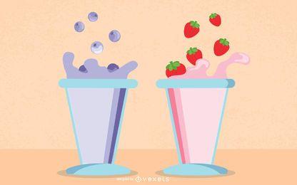 Fruta Leche 01 Vector