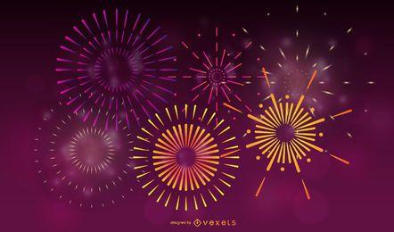 Vektor des Feuerwerk-Effekt-04