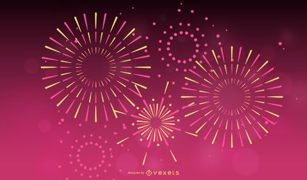 Fireworks Effect 01 Vector