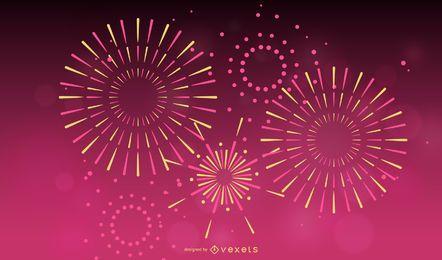 Vektor des Feuerwerk-Effekt-01