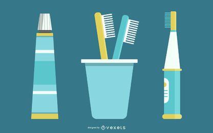 Dentistas tema vectorial