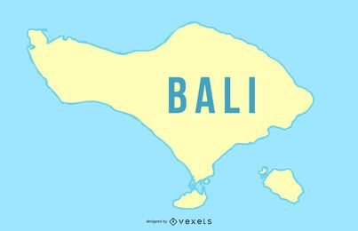 Bali Island Map Road Map Does Not Add Line Drawing Characters Vector