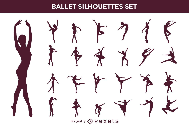 Vector Ballet Silhouette Set