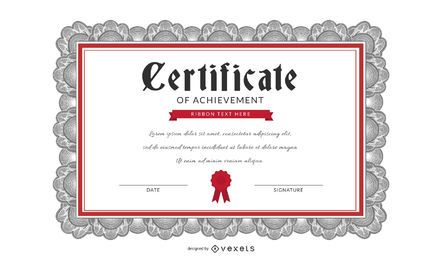 Beautiful Certificate Template Vector