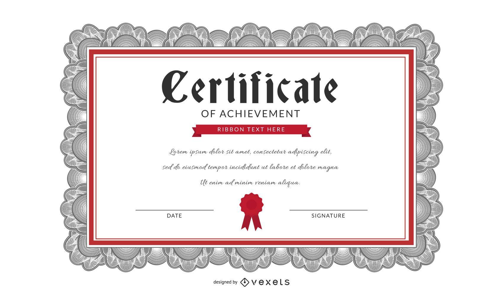 Vector de plantilla de certificado hermoso