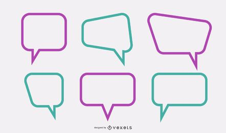 Text Dialog Box Set Vector
